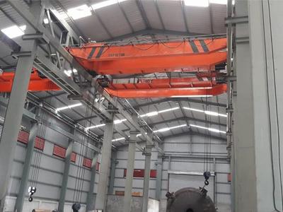 Double Girder EOT Crane, Semi Goliath Crane