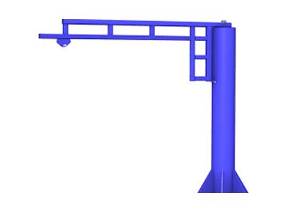 WORK Station Jib Crane, electric chain hoist manufacturer in india